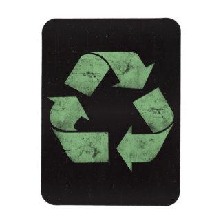 El Grunge del vintage recicla símbolo Imán Rectangular