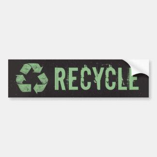 El Grunge del vintage recicla símbolo Pegatina Para Auto