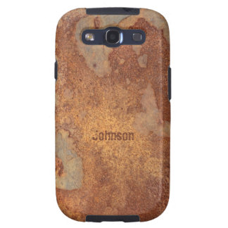 El Grunge fresco corroyó mirada del metal con nomb Samsung Galaxy S3 Protector