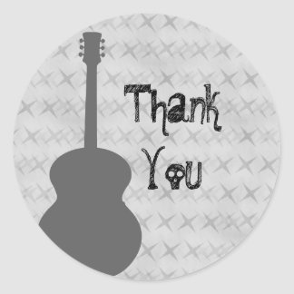 El Grunge gris de la guitarra le agradece los pega Etiquetas Redondas