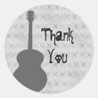 El Grunge gris de la guitarra le agradece los Etiquetas Redondas