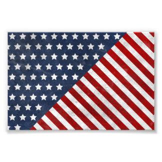 el grunge impresionante de la bandera de los E E U