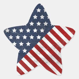 el grunge impresionante de la bandera de los pegatina en forma de estrella
