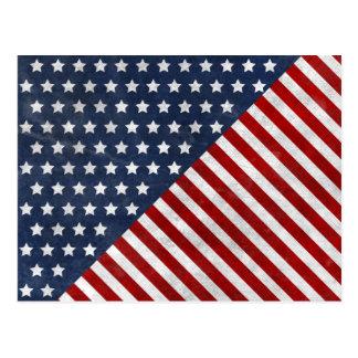el grunge impresionante de la bandera de los tarjeta postal