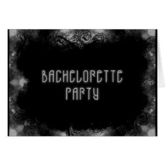 El Grunge invita a 1 fiesta de Bachelorette - B&W Tarjeta Pequeña
