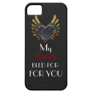 El Grunge mi corazón sangró para usted los casos iPhone 5 Case-Mate Cárcasa