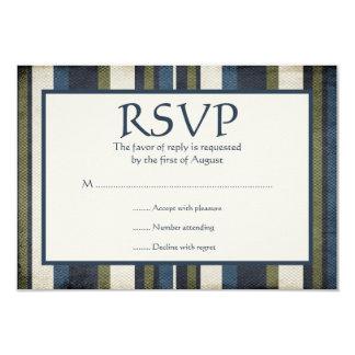 """El Grunge raya la tarjeta de la respuesta de Invitación 3.5"""" X 5"""""""