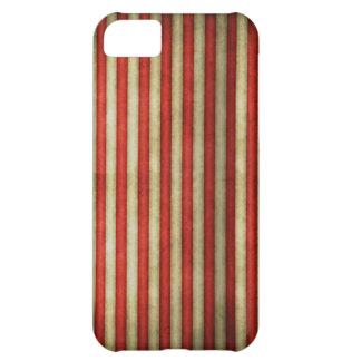 El grunge rojo del circo del vintage raya el model carcasa iPhone 5C