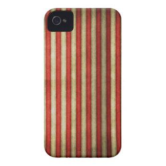 El grunge rojo del circo del vintage raya el model iPhone 4 Case-Mate protector