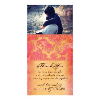 El Grunge rosado de Rockin le agradece tarjeta de Tarjetas Fotográficas Personalizadas