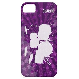 El Grunge teclea la explosión de la púrpura iPhone 5 Case-Mate Carcasas
