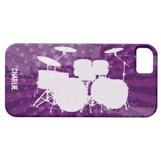 El Grunge teclea la explosión de la púrpura Funda Para iPhone 5 Barely There