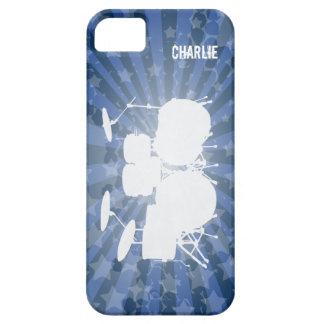 El Grunge teclea la explosión del azul iPhone 5 Funda
