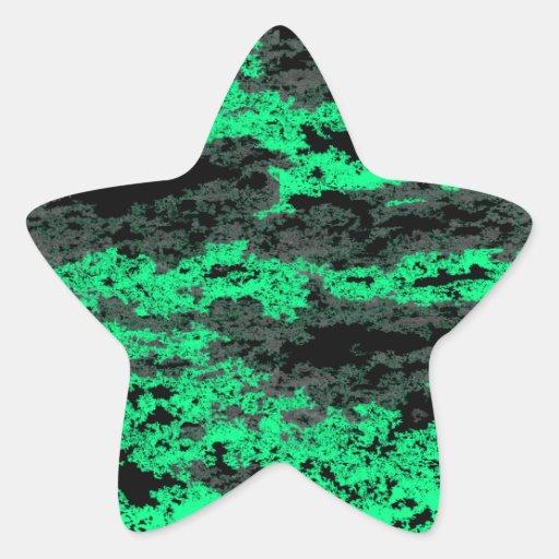 El Grunge verde se nubla a los pegatinas Pegatina En Forma De Estrella