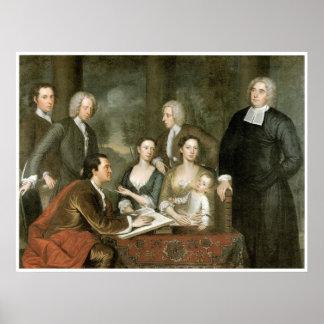 El grupo de Bermudas - decano George Berkeley y fa Póster