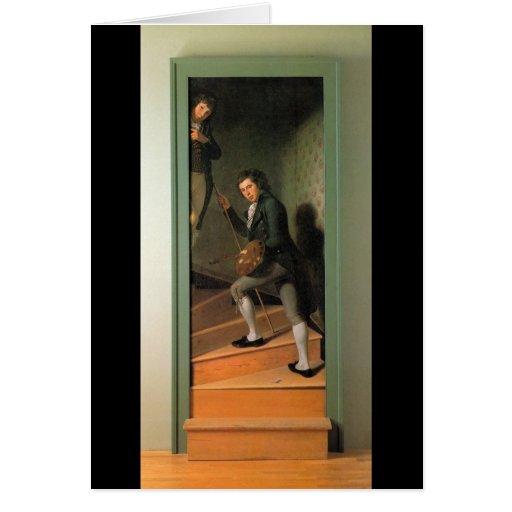 El grupo de la escalera, por Charles Willson Peale Tarjeta De Felicitación