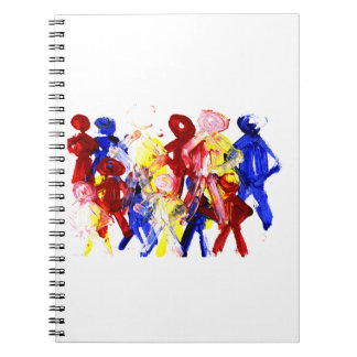 El grupo de palillo derecho figura la pintura de d spiral notebooks