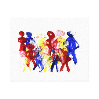 El grupo de palillo derecho figura la pintura de d impresión en lona