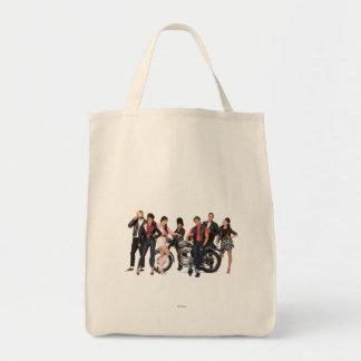 El grupo de playa adolescente tiró 3 bolsa tela para la compra