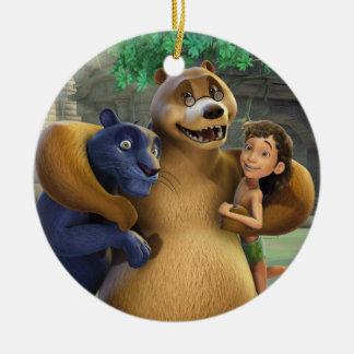 El grupo del libro de la selva tiró 1 ornamentos de navidad