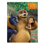 El grupo del libro de la selva tiró 1 tarjeta postal