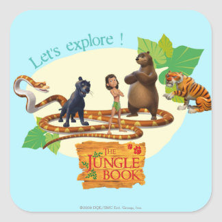 El grupo del libro de la selva tiró 4 calcomanía cuadradas