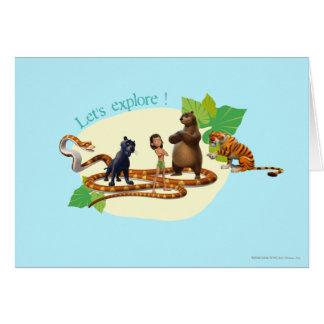El grupo del libro de la selva tiró 4 tarjeta de felicitación
