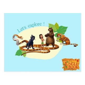 El grupo del libro de la selva tiró 4 postal