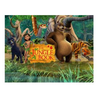 El grupo del libro de la selva tiró 5 tarjeta postal