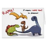 El grupo lindo de dinosaurios Rawr significa que l Felicitacion
