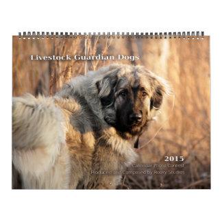 El guarda del ganado persigue 2015 ENORMES Calendarios De Pared