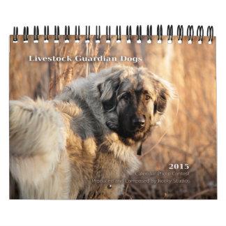 El guarda del ganado persigue 2015 pequeños calendario de pared