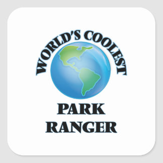 El guarda del parque más fresco del mundo pegatina cuadrada