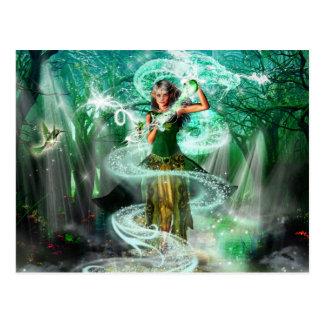 El guarda esmeralda postal