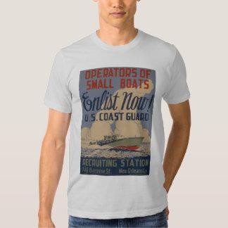 El guardacostas de los E.E.U.U. del vintage alista Camisas