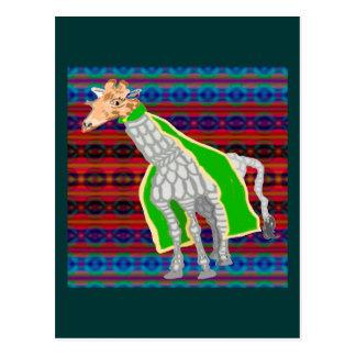 El guardia de la jirafa tarjetas postales