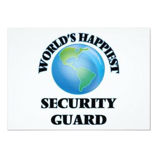 El guardia de la seguridad más feliz del mundo invitación 12,7 x 17,8 cm