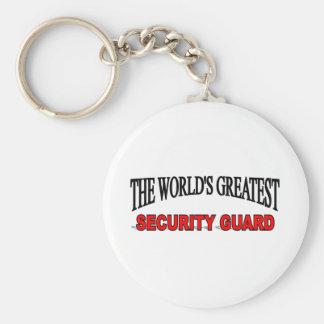 El guardia de la seguridad más grande del mundo llavero redondo tipo pin