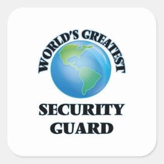 El guardia de la seguridad más grande del mundo calcomanía cuadrada personalizada