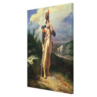 El guardia del granadero, 1842 lienzo envuelto para galerias
