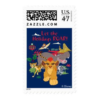 El guardia del león el | dejó el rugido de los sello postal