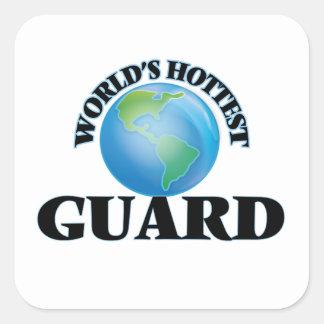 El guardia más caliente del mundo calcomanía cuadradase