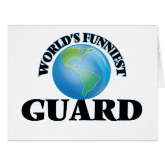 El guardia más divertido del mundo tarjeta