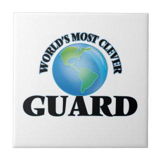 El guardia más listo del mundo azulejo cuadrado pequeño
