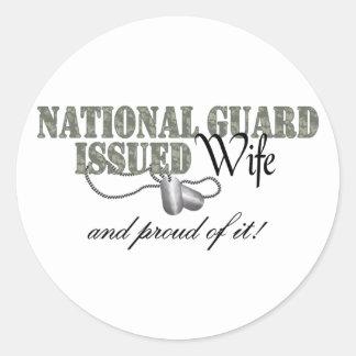El Guardia Nacional publicó a la esposa Pegatina Redonda