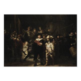 El guardia nocturna de Rembrandt Van Rijn Invitacion Personal