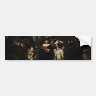 El guardia nocturna de Rembrandt Van Rijn Pegatina Para Auto