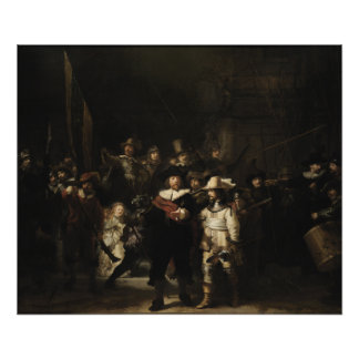 El guardia nocturna de Rembrandt Van Rijn Fotografia