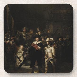 El guardia nocturna de Rembrandt Van Rijn Posavasos