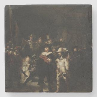 El guardia nocturna de Rembrandt Van Rijn Posavasos De Piedra